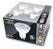 LED Spotlights | 50W GU10 Warm White | 5 Pack | INTEGRAL